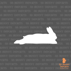 Sleeping bunny silhouette decal