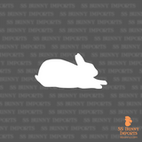 Sphinx rabbit silhouette decal