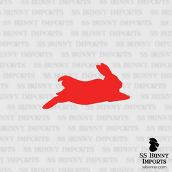 Superbunny silhouette decal