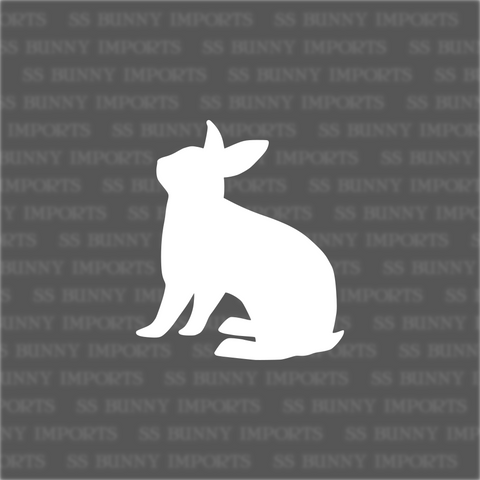 Sitting rabbit silhouette decal