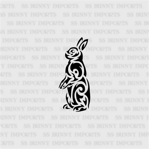 Tribal alert bunny decal