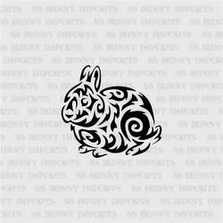 Tribal dwarf bunny decal