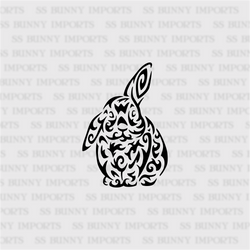 Tribal half lop bunny decal