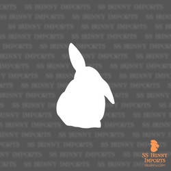 Half lop bunny silhouette decal