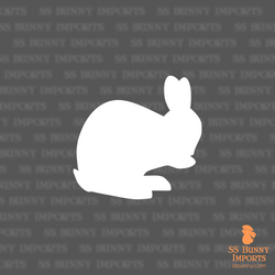 Washing bunny silhouette decal