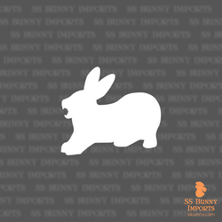 Yawning rabbit silhouette decal