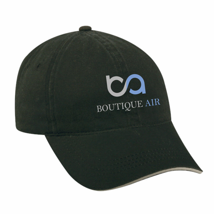 Boutique Air Black Baseball Cap