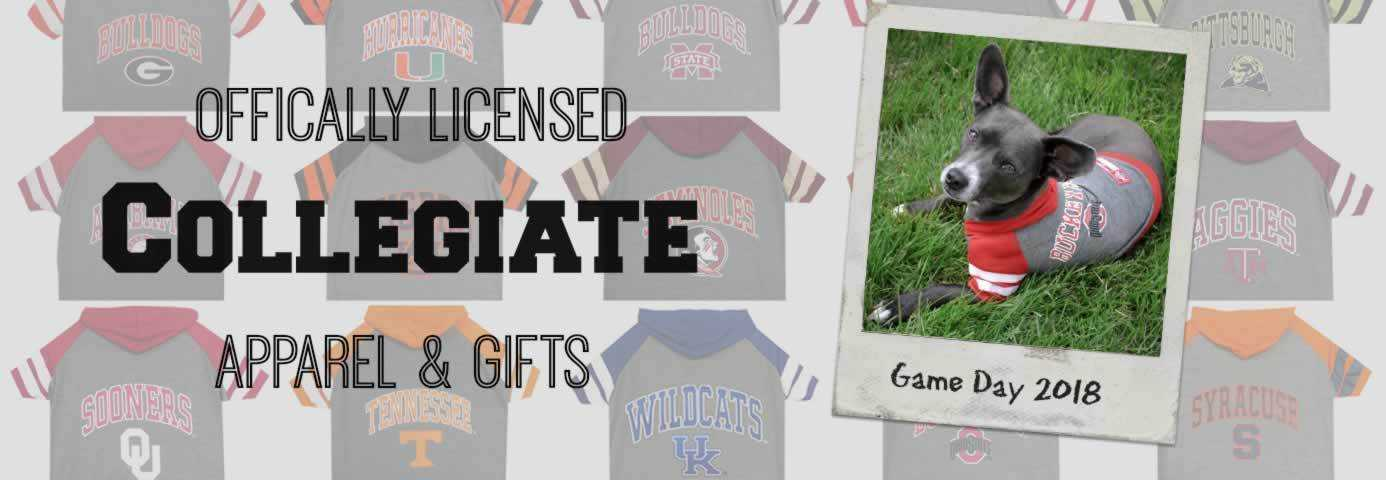 NCAA College Dog Clothes & Accessories