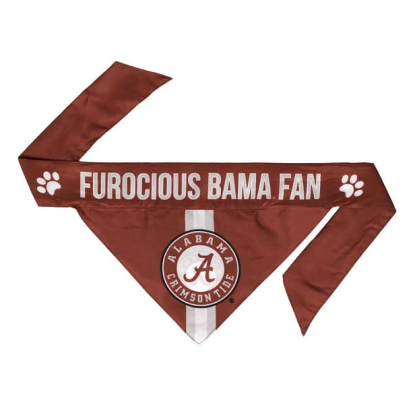 Alabama Tie On Dog Bandana - 1
