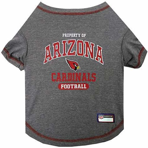 Arizona Cardinals Dog Charcoal Tee Shirt - 1