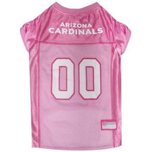 Arizona Cardinals Dog Jersey Pink - 1