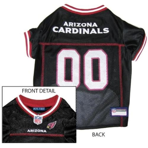 Arizona Cardinals Dog Jersey with Red Trim - 1