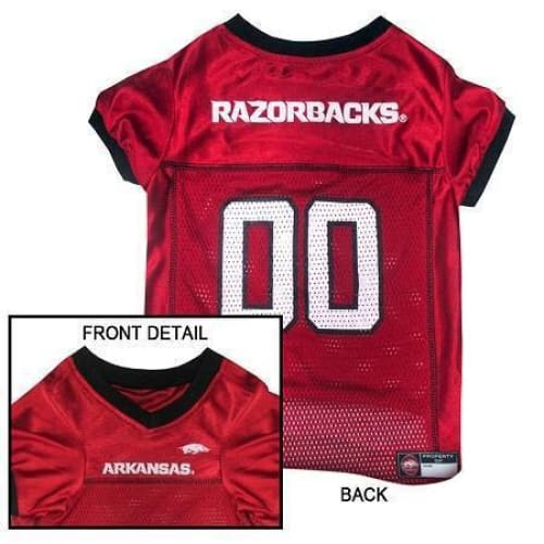 Arkansas Razorbacks Dog Jersey - College Dog Jerseys - 1