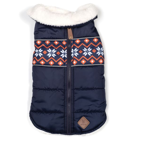 Aspen Puffer Navy Jacket for Dogs - Dog Jackets & Coats - 1