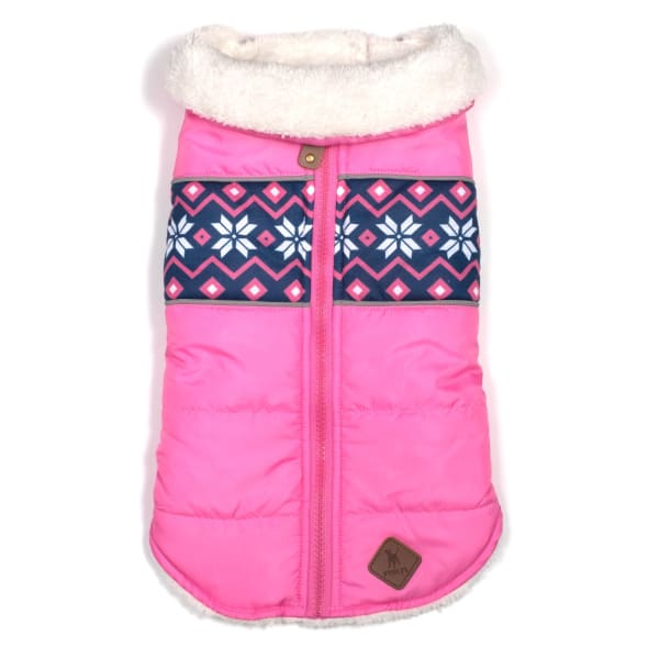 Aspen Puffer Pink Jacket for Dogs - Dog Jackets & Coats - 1
