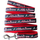 Atlanta Braves Dog Leash Ribbon - MLB Dog Leashes - 1