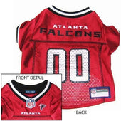 Atlanta Falcons Dog Jersey Red - NFL Dog Jerseys - 1