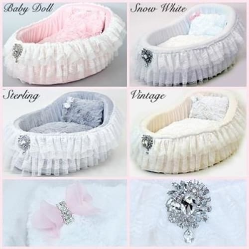 Baby Doll Dog Crib Bed - Luxury Dog Beds - 4
