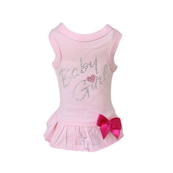 Baby Girl Dress for Dogs Pink - 1