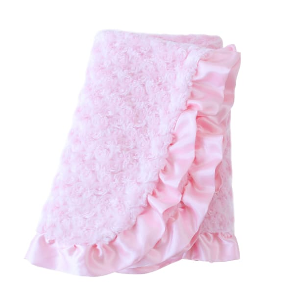 Baby Ruffle Dog Blanket by Hello Doggie Baby Pink - Dog Blankets - 3