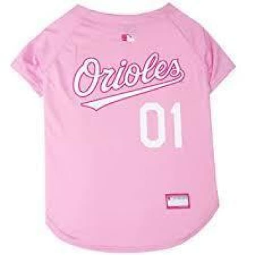 Baltimore Orioles Dog Jersey Pink - 1