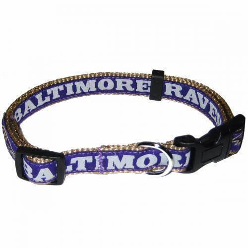 Baltimore Ravens Dog Collar Ribbon - 1