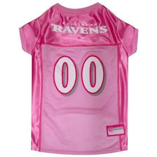 Baltimore Ravens Dog Jersey Pink - 1