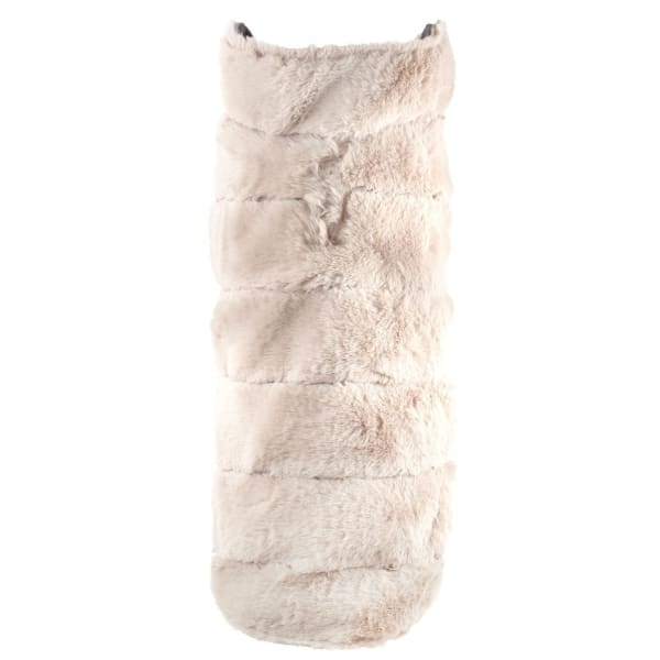 Beige Fur Coat for Dogs - Dog Jackets & Coats - 1