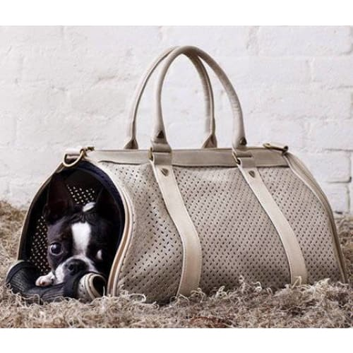 BK Atelier Dog Carrier Mia Champagne - Dog Travel Kennels - 2