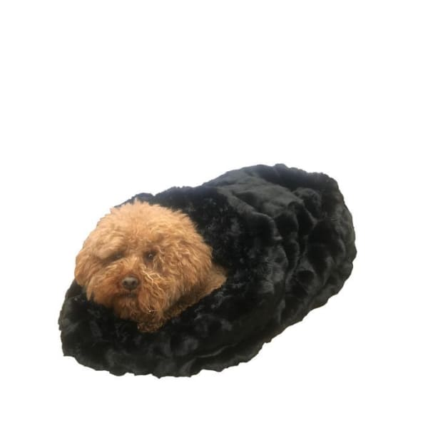 Black Mink Cozy for Dogs - Cozys & Snuggle Dog Beds - 1