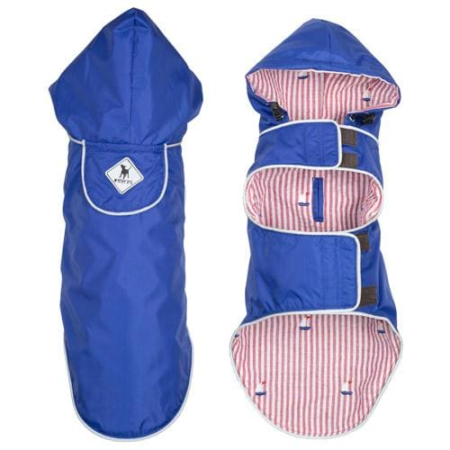 Blue Sailboat Seattle Slicker Jacket for Dogs - Dog Jackets & Coats - 3