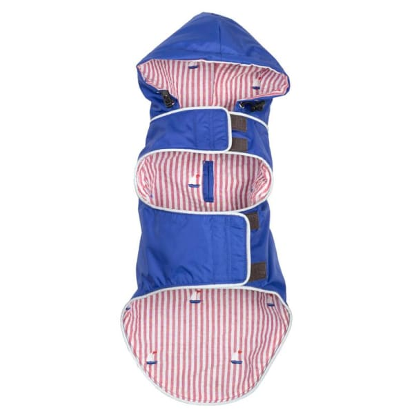 Blue Sailboat Seattle Slicker Jacket for Dogs - Dog Jackets & Coats - 2