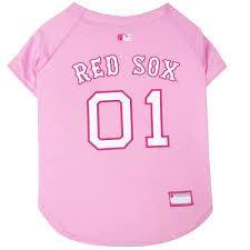 Boston Red Sox Dog Jersey Pink - 1