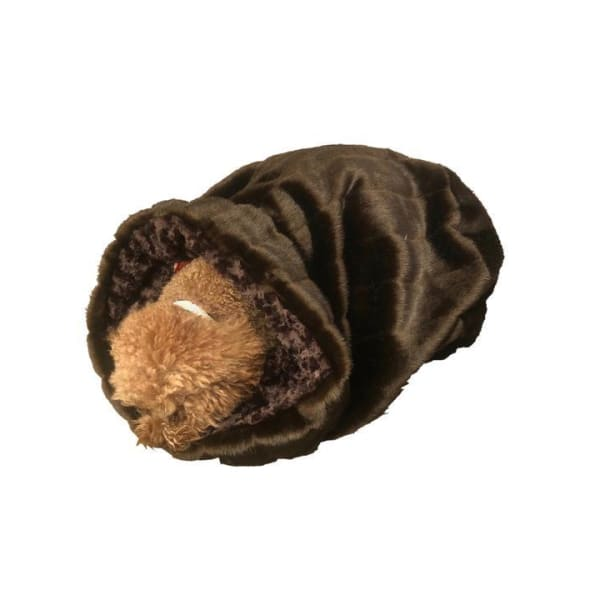 Brown Mink Cozy for Dogs - Cozys & Snuggle Dog Beds - 1