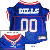 Buffalo Bills Dog Jersey Red Trim - NFL Dog Jerseys - 1