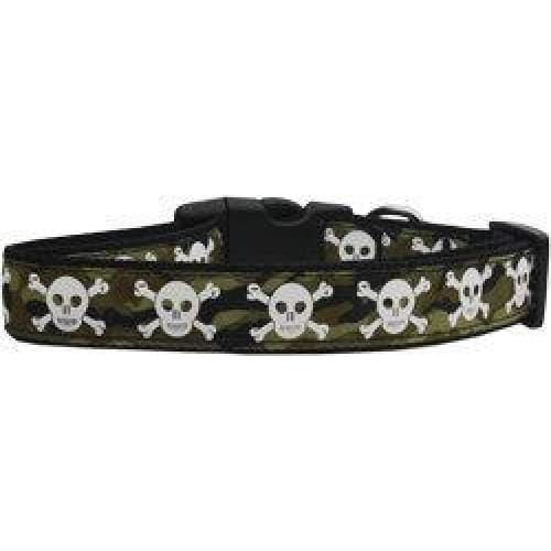 Camo Skulls Nylon Dog Collar - 1