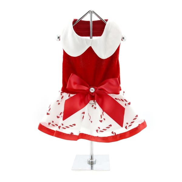 Candy Canes Holiday Dog Harness Dress - Christmas for Dogs - 2