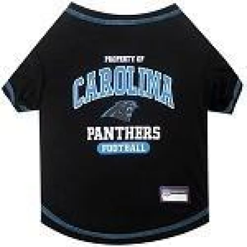 Carolina Panthers Dog Tee Shirt in Black - 1