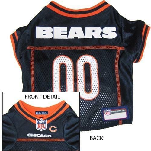 Chicago Bears Dog Jersey Orange Trim - 1