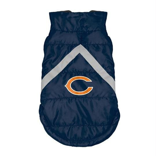 Chicago Bears Pet Puffer Vest for Dogs - NFL Pet Puffer Vest for Dogs - 1