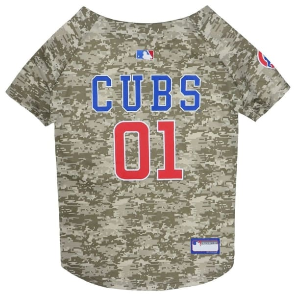 Chicago Cubs Dog Jersey Camo - 1