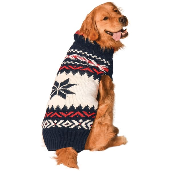 Chilly Dog Navy Vail Dog Sweater - 1