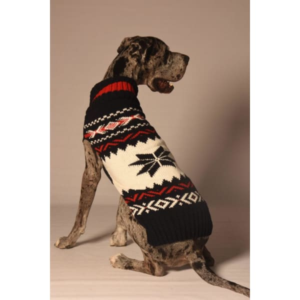 Chilly Dog Navy Vail Dog Sweater - 3