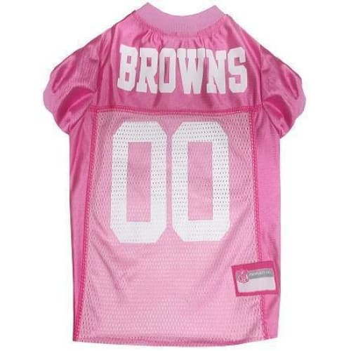 Cleveland Browns Dog Jersey Pink - 1