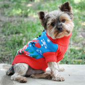 Combed Cotton Ugly Snowman Holiday Dog Sweater - Christmas For Dogs - 1