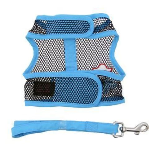 Cool Mesh Dog Harness Pirate Octopus Blue and Black with Matching Leash - Soft Dog Harnesses - 3