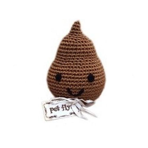 Crocheted Doodie the Poo Organic Cotton Dog Toy - 1