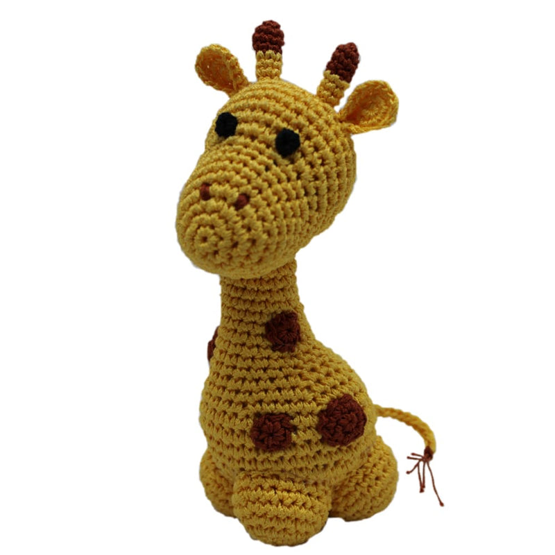 Crocheted Louie Longneck the Giraffe Organic Cotton Dog Toy - Organic & Eco Friendly Dog Toys - 1