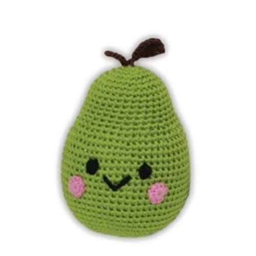 Crocheted Organic Dog Toy Pear - Organic & Eco Friendly Dog Toys - 1