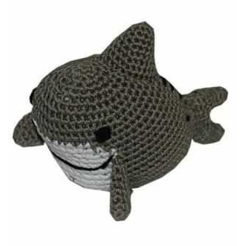 Crocheted Shark Organic Cotton Small Dog Toy - Organic & Eco Friendly Dog Toys - 1